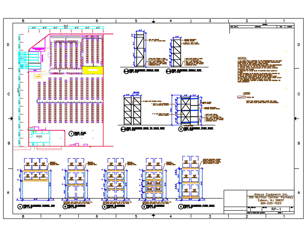 Layout design always equipment inc for Draw layout warehouse