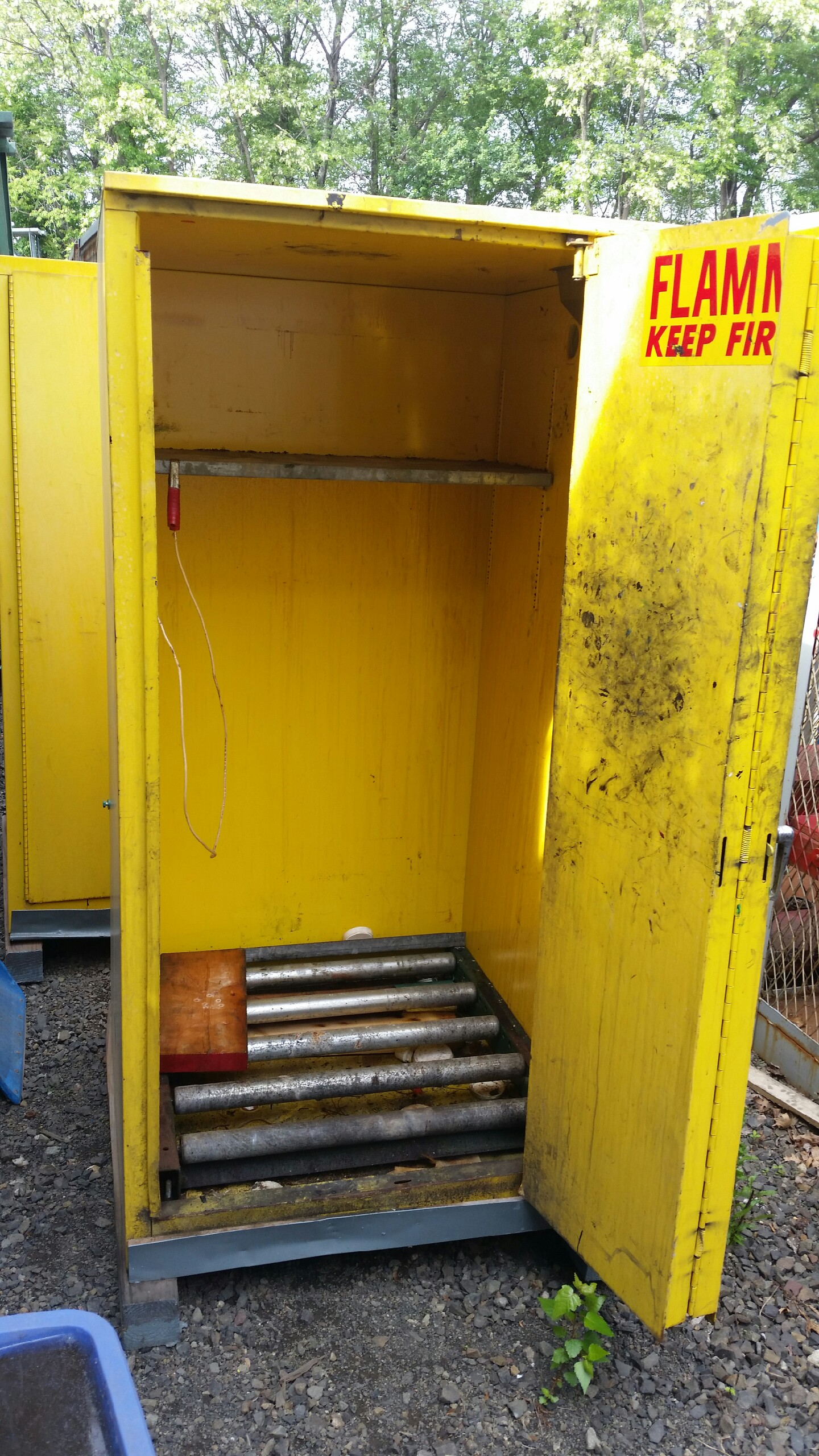 Used Drum Handling Storage Cabinets