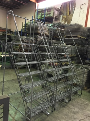 Used 7 Step Rolling Ladders
