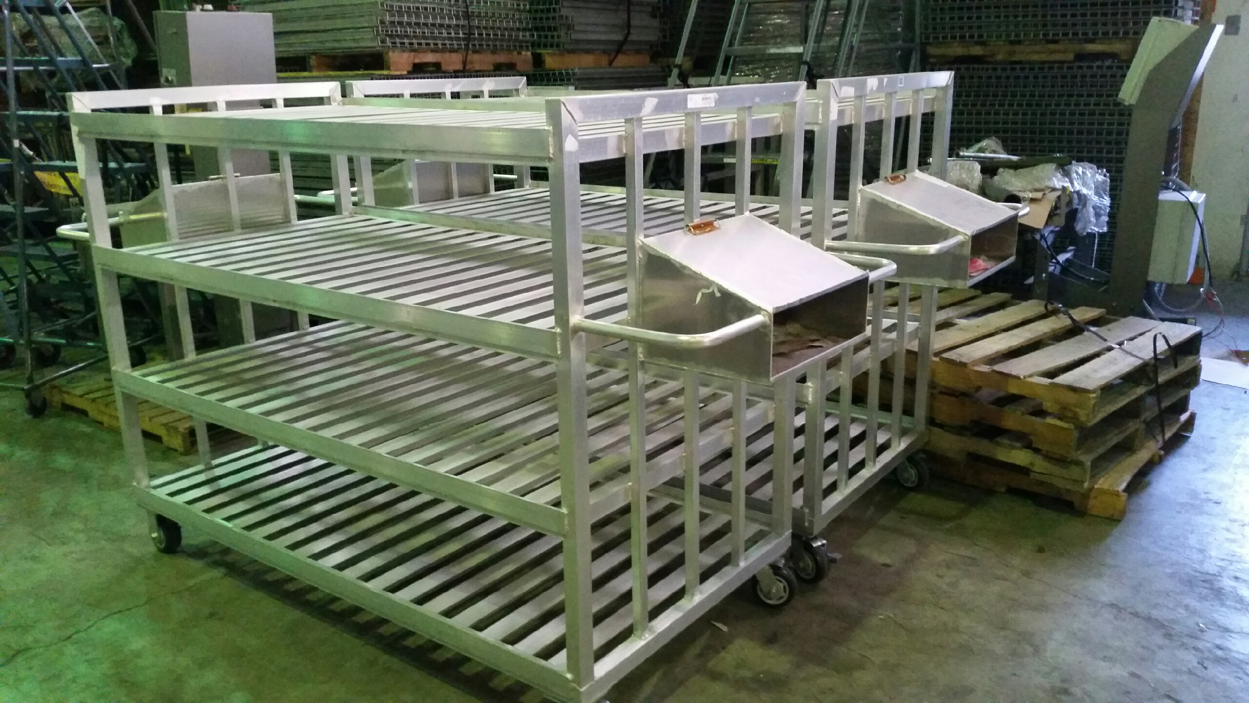 Used Aluminum Carrier Carts by New Age Industrial