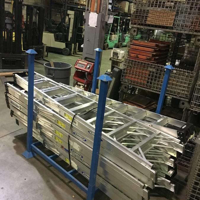 8 foot Werner A-frame Aluminum Ladders