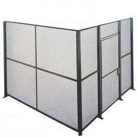 Used 8′ Tall Wire Partition Cage 60'x60′