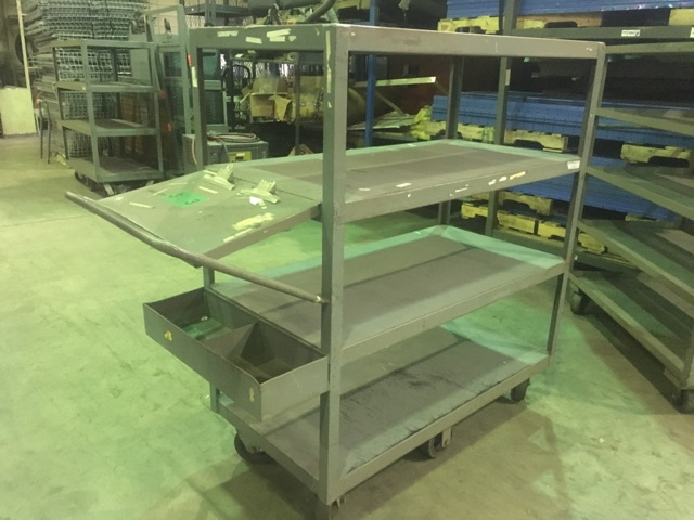 Multi-level Steel Shelf Carts